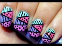 Wedding Nail Designs - Zig Zag Nail Art Using Striping ...