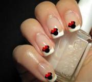 disney wedding - minnie mouse nail