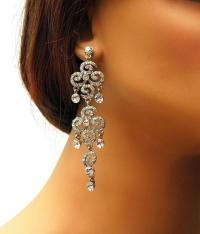 Wedding Bridal Earrings, Vintage Inspired Rhinestone ...