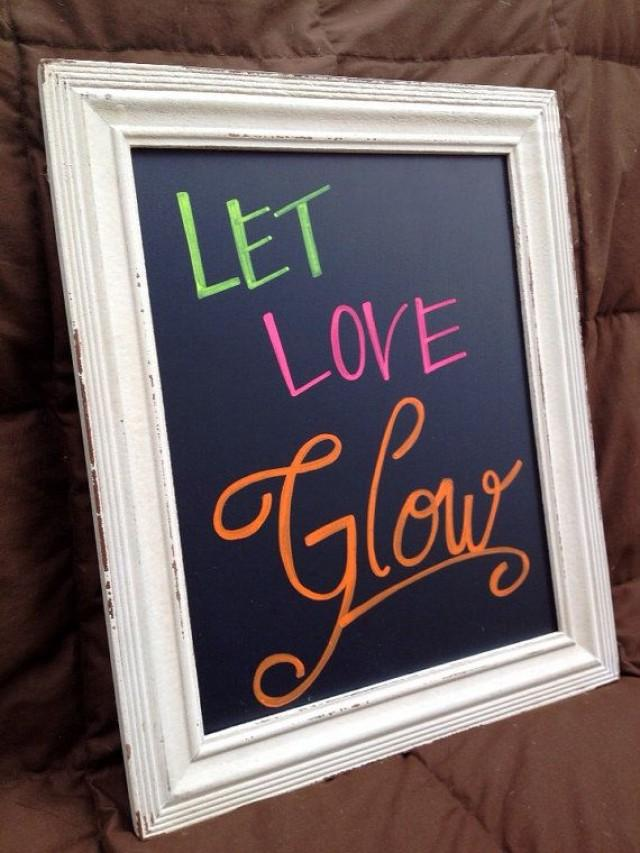 Neon Wedding  Wedding  Let Love Glow Sign 2208659
