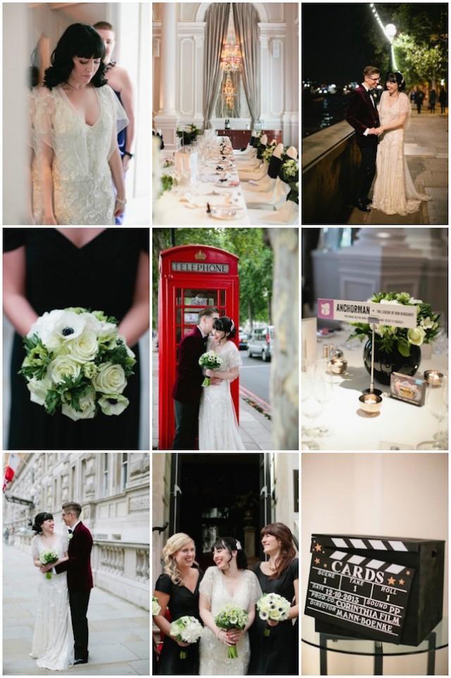 Cool MovieThemed Wedding In London  Weddbook