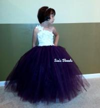 Plum Flower Girl Dress/ Junior Bridesmaids Dress/ Flower ...