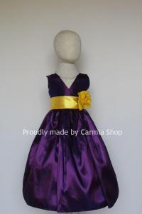 PURPLE Flower Girl Dresses With Yellow (FVN01) - Easter ...