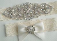 Vintage Bridal Garter - Wedding Garter Set #2225648 - Weddbook