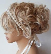 Bridal Pearl Headband, Lace vory Pearl Wedding Head Piece ...
