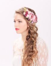 bridal flower hair crown woodland