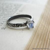 Moonstone Engagement Ring Promise Ring Gemstone Stacking ...