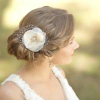 Wedding Hair Flower Fascinator Wedding Hair Piece Bridal