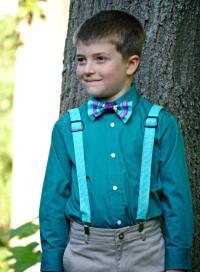 Boy's Bow Tie And Suspenders Set, Bowtie, Suspenders, Ring ...