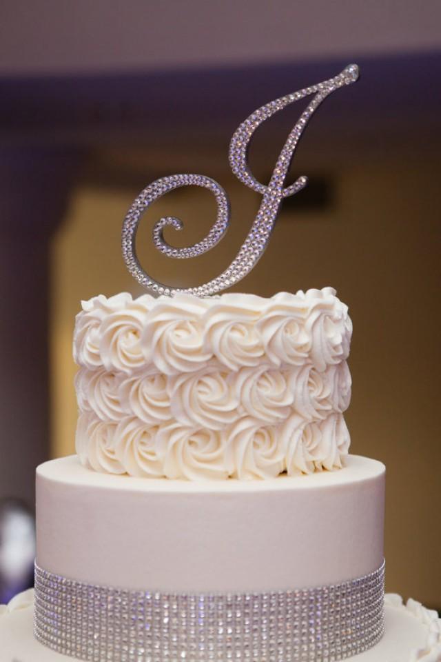 letter monogram cake topper