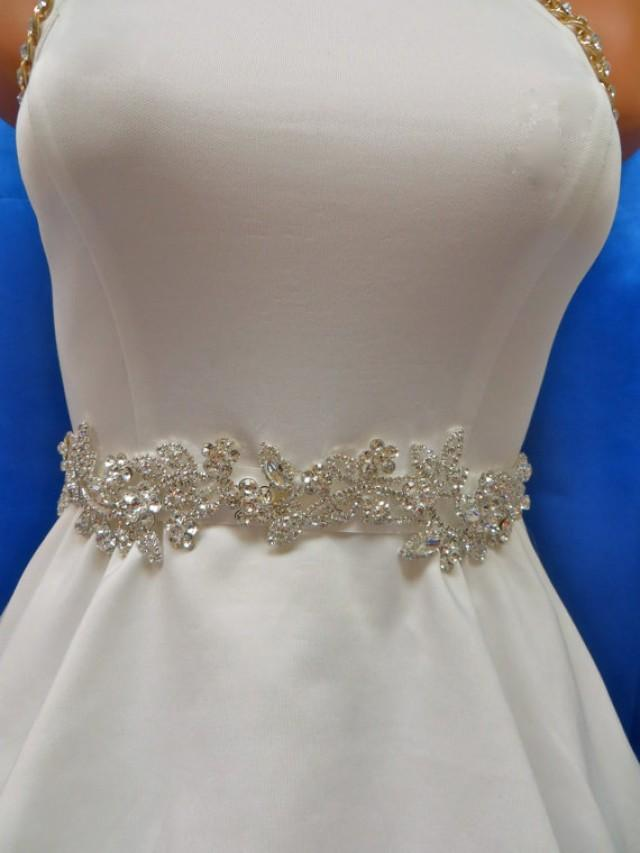 Rhinestone Bridal Sash Wedding Gown Accessory Bridal