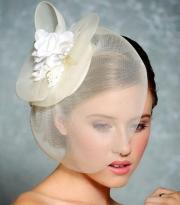 birdcage veil - bridal hair fascinator