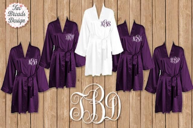 monogrammed robes bridesmaids