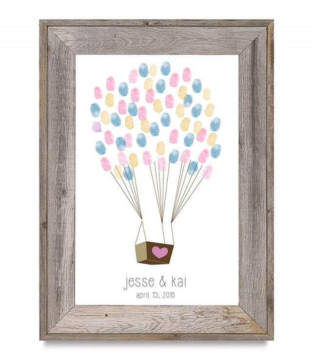 Downloadable Fingerprint Balloon Guestbook  Weddbook