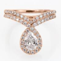 Pear Shaped Engagement Ring Set, Wedding Ring Sets - Pear ...