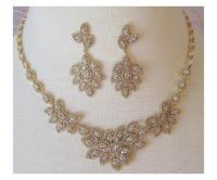 Swarovski Crystal Necklace And Earrings Bridal Set ...
