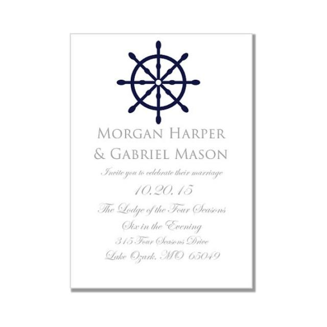 Nautical Wedding Invitation Template-