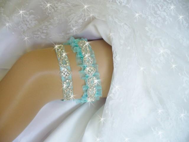 Light Turquoise Blue Wedding Garter Set Lt Turquoise