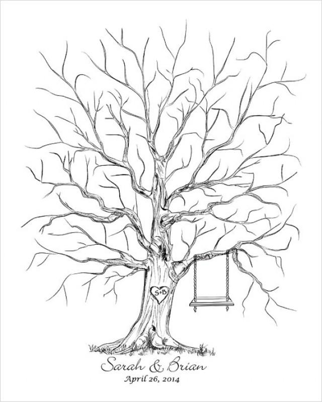 Wedding Thumb Tree Guest Book Alternative, Guestbook