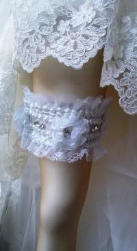 Wedding Garter Set , Ivory Lace Garter Set, Bridal Garter ...