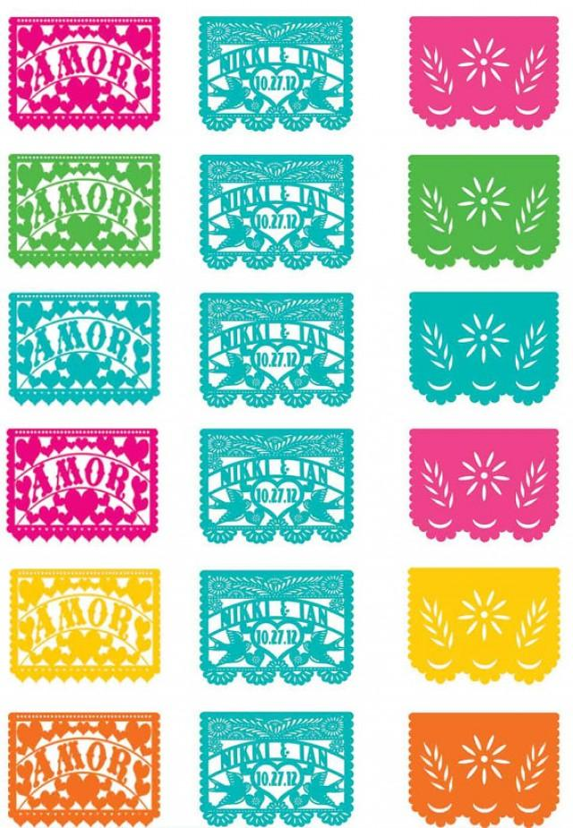 Cupcake Toppers Love Birds Papel Picado Banner Fiesta Wedding Engagement Shower I Design You