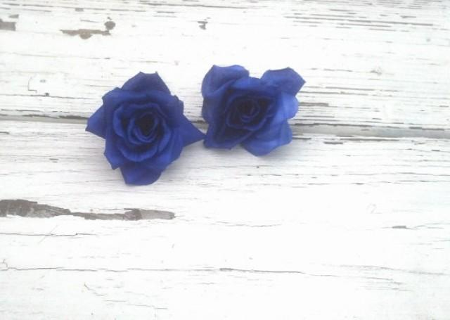5 Small Roses Royal Blue DIY Bridal Craft