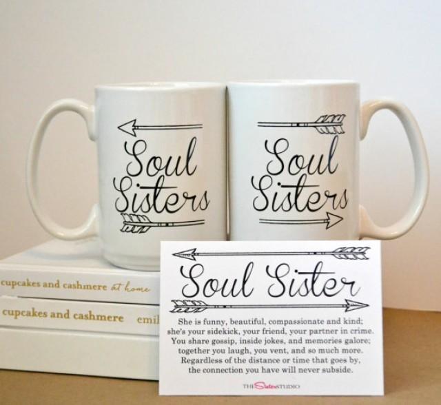 TWO SOUL SISTERS Mugs Coffee Mug Set Best Friends