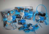 Blue Camo Wedding Set, Blue Camouflage Wedding Set, True