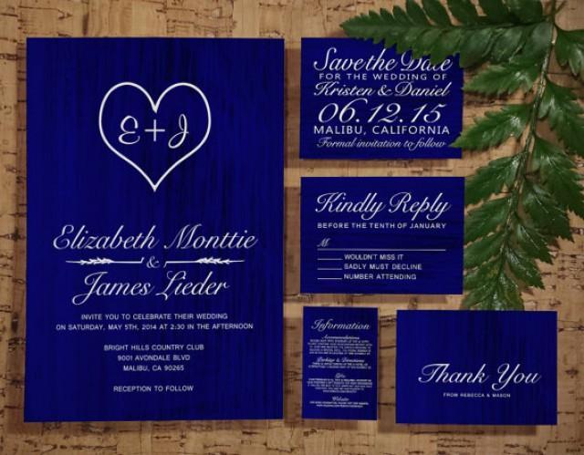 Royal Blue Country Wedding Invitation SetSuite Invites