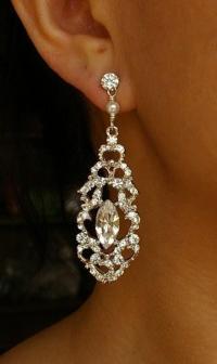 Victorian Style Chandelier Bridal Earrings, Vintage Style ...
