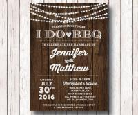 I Do BBQ Wedding Reception Invitation, I Do BBQ Couples ...