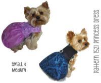Princess Dog Dress Pattern 1521 * Small & Medium * Dog ...
