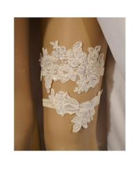 Lace Wedding Garter Set, Wedding Garter, Ivory Beaded Lace ...