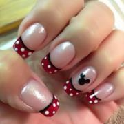lovely mickey mouse disney nail