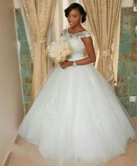 Modest Arabic 2016 Wedding Dresses White Sheer Neck Cap ...