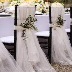 Chair Cover Decorations For Wedding Steel Lounge Tulle Covers 2366372 Weddbook