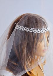 wedding crochet headband hair accessories