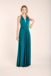Teal Maxi Dress Bridesmaid Dress, Turquoise Long Dress ...