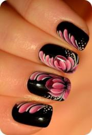 nail - art zhostovo fleur