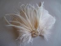 Wedding Hair Accessory, Ivory Hair Clip, Bridal Hair Piece