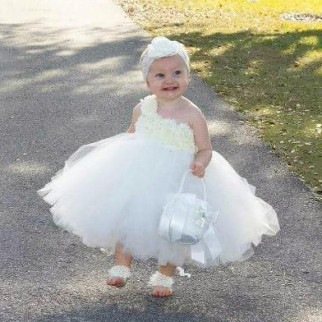 Ivory Flower Girl Dress Baby Girl Flowers Dress TuTU Dress