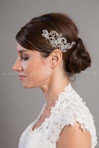 Rhinestone Bridal Headpiece, Wedding Hair Piece - Krystal ...