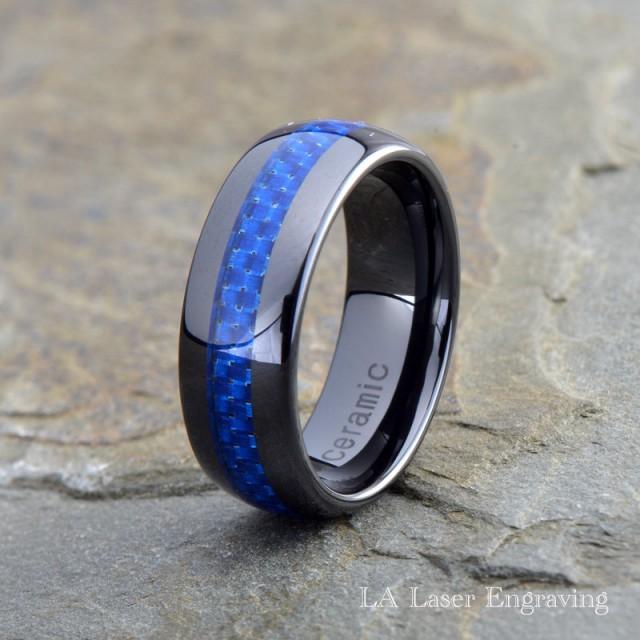 Ceramic Wedding Band Mens Ring Mens Wedding Bands