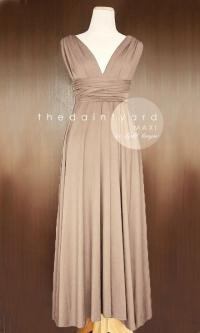 MAXI Light Taupe Bridesmaid Convertible Dress Infinity ...