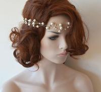 Wedding Headband, Bridal Pearl Headband, Pearl Headpieces ...