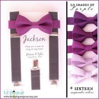 Cassis Bow Tie, Grey Suspenders, Adult Suspenders, Toddler ...