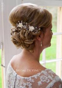 Mulberry Flower Hair Vine - Hair Up Bun - Bridal Hair ...