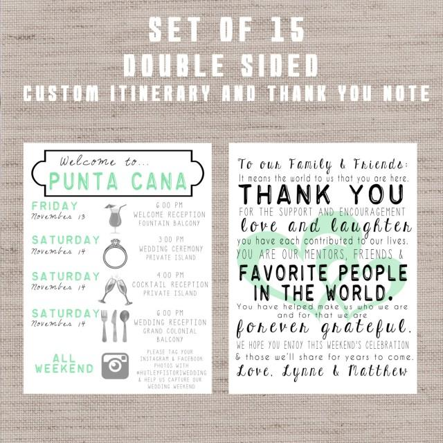 Destination Wedding Welcome Bag Letters AND Guest ItineraryTimeline Of Events 2411476  Weddbook