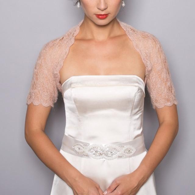 SALE BRIDAL SHRUG Wedding Bolero In Beige Color Lace