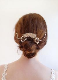 Crystal Bridal Headpiece, Wedding Hair Chain , Wedding ...